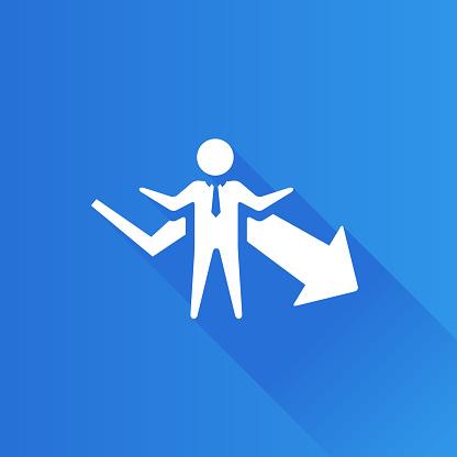 Metro Icon - Businessman chart