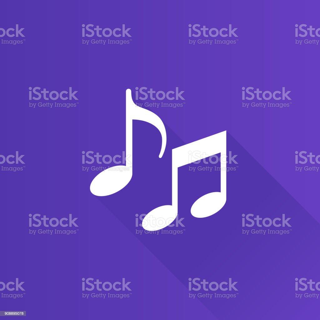 Metro Icon - Music notes vector art illustration