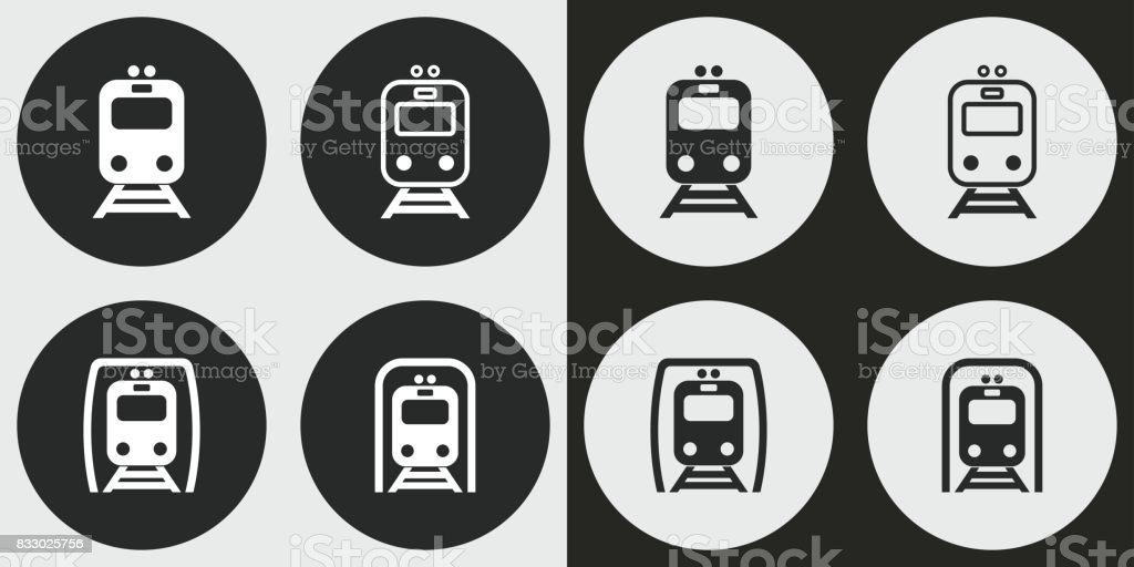 地下鉄のアイコンを設定します。 ベクターアートイラスト
