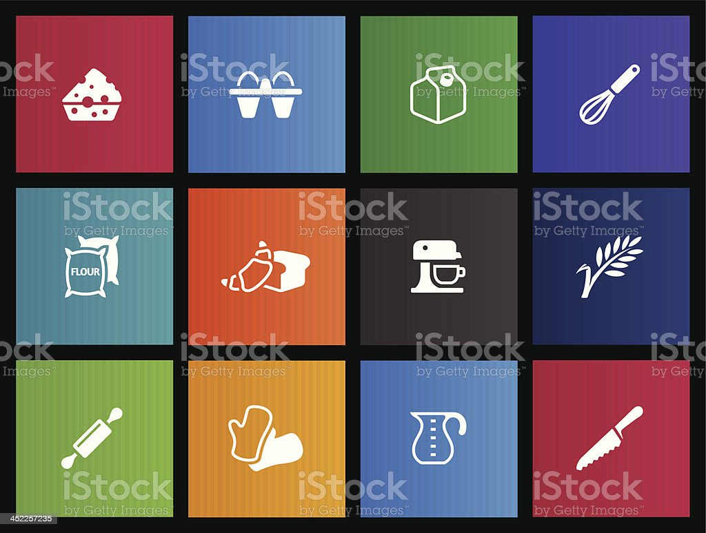 Metro Icons - Baking royalty-free stock vector art