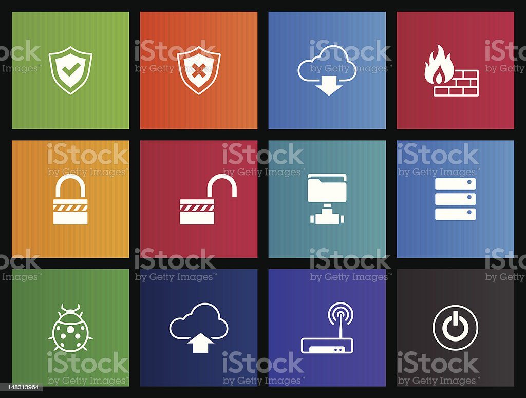 Metro Icons - Computer Network royalty-free stock vector art