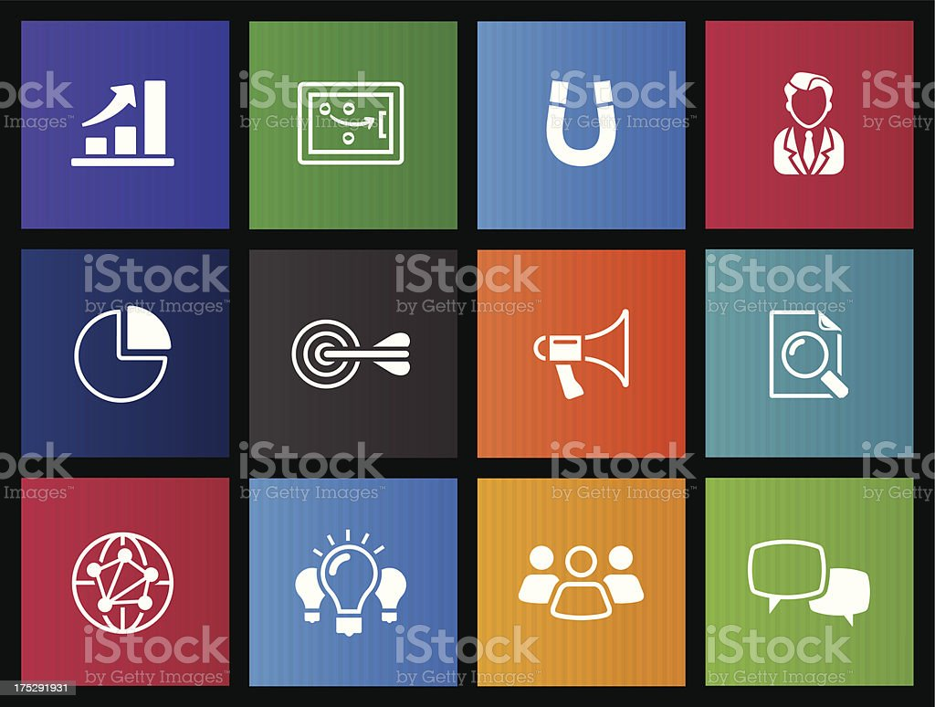 Metro Icons - Marketing royalty-free metro icons marketing stock vector art & more images of aspirations