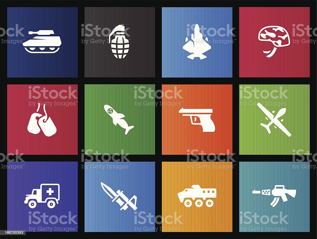 Metro Icons - Military royalty-free stock vector art