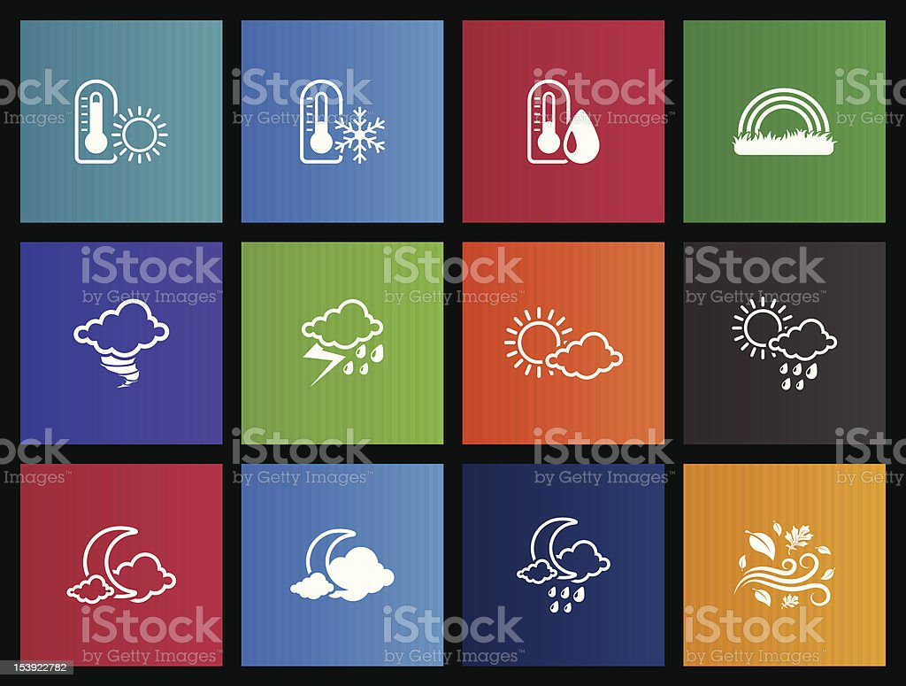 Metro Icons - More Weather royalty-free stock vector art