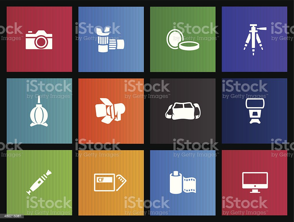 Metro Icons - Photography royalty-free stock vector art