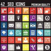 42 SEO Metro  Icons Premium Quality