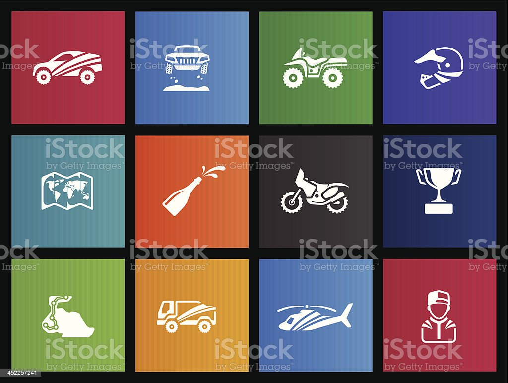 Metro Icons - Rally royalty-free stock vector art
