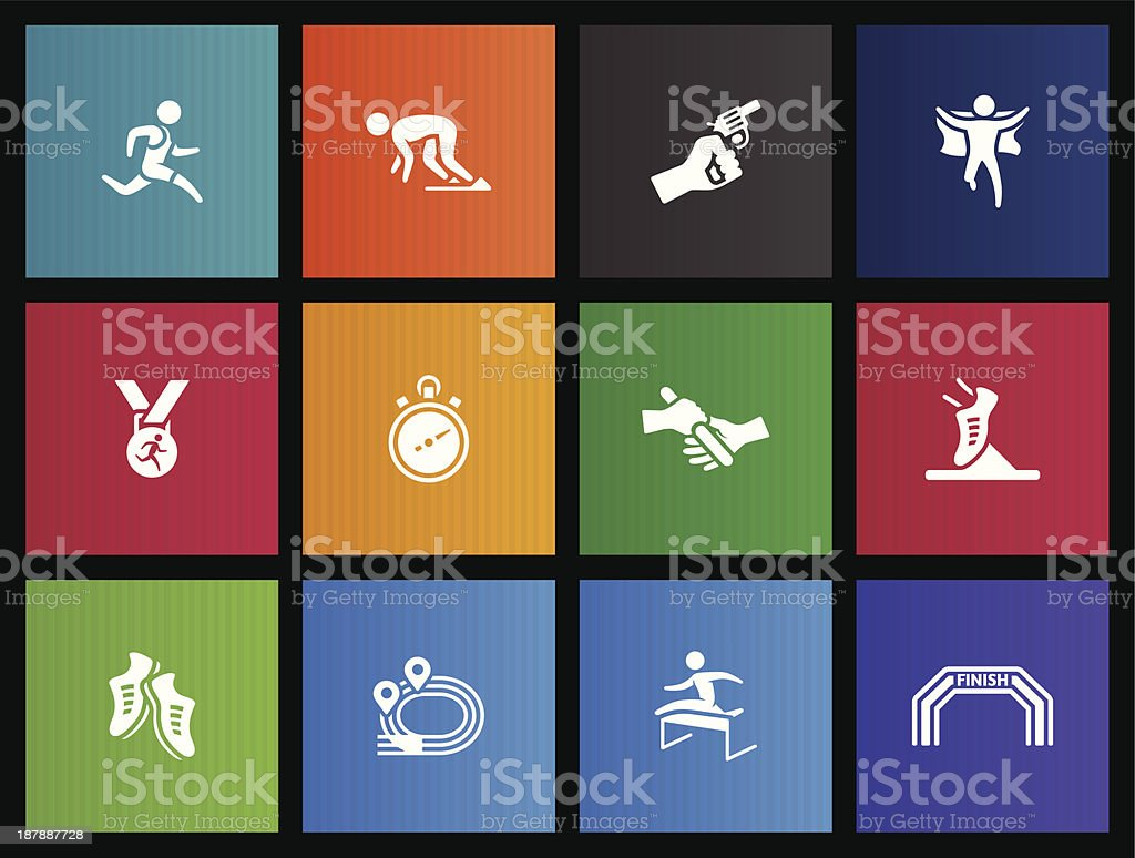 Metro Icons - Run Competition royalty-free metro icons run competition stock vector art & more images of activity