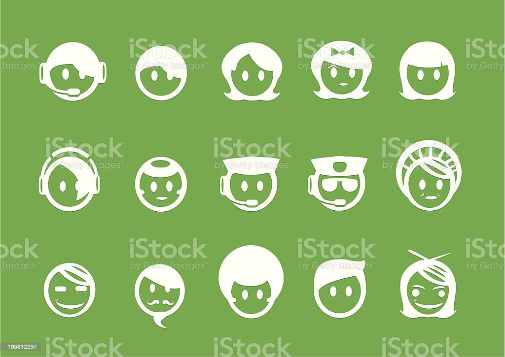 Metro People and User Icons vector art illustration