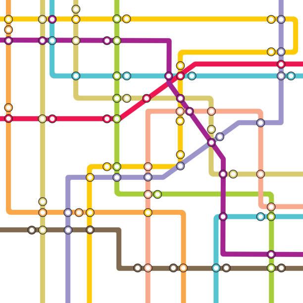 illustrations, cliparts, dessins animés et icônes de système de métro-plan du métro - métro