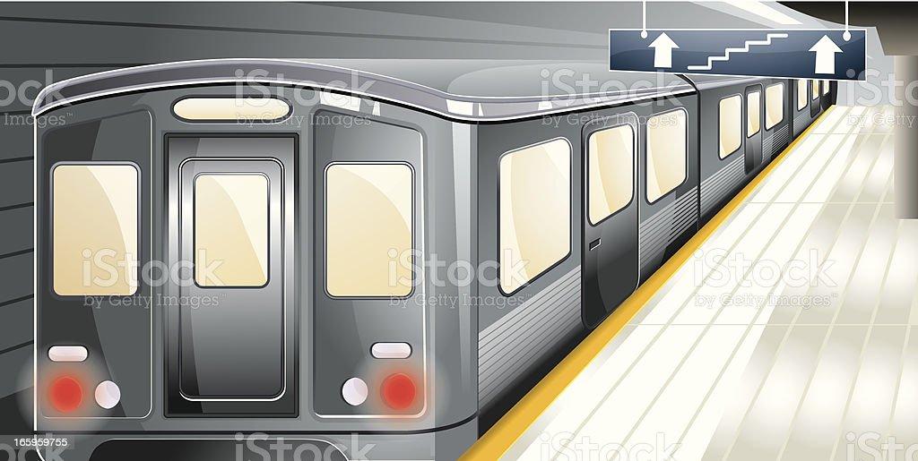 Metro station. royalty-free stock vector art