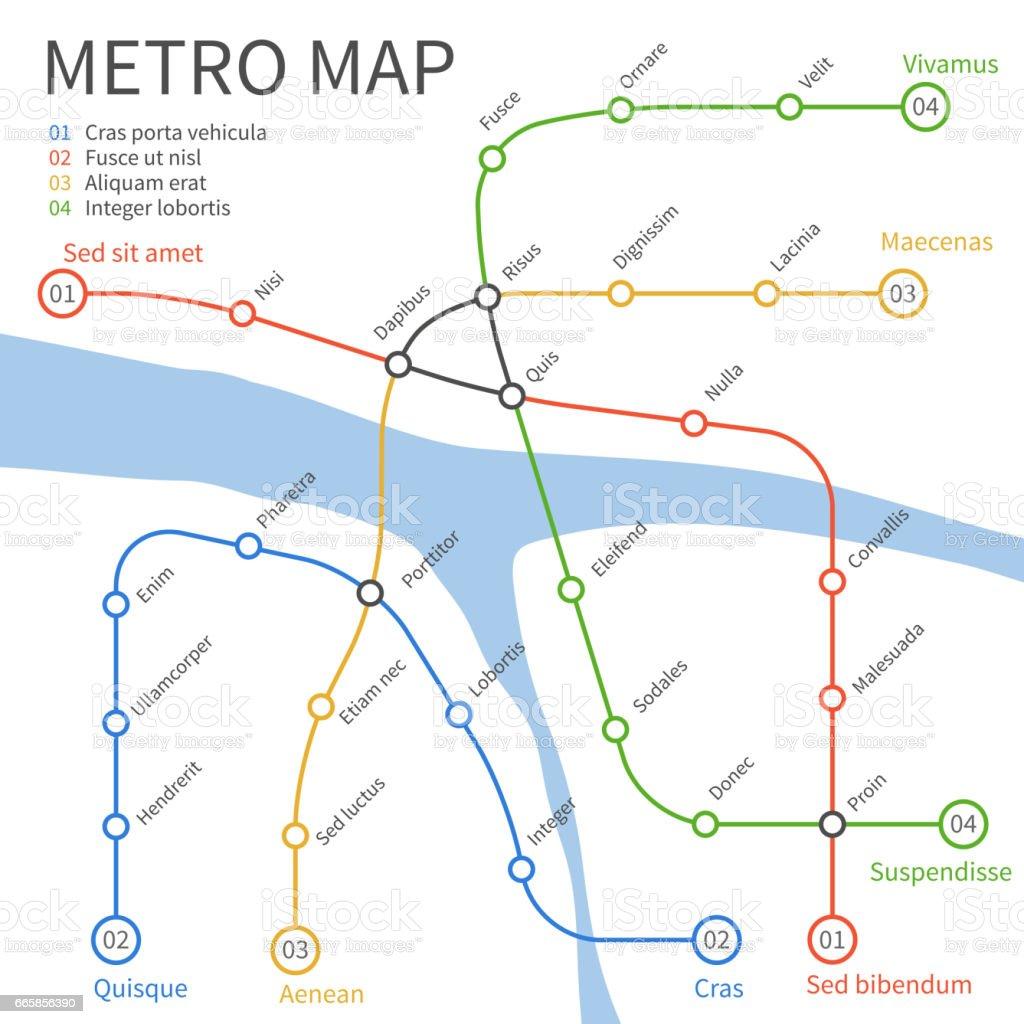 地下鉄路線図ベクター都市輸送の概念 つながりのベクターアート素材や
