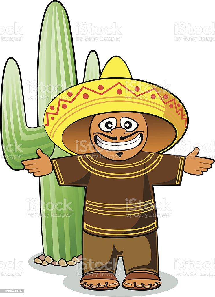 mexikanische und kaktus comic stock vektor art und mehr bilder von braun 165599916 istock. Black Bedroom Furniture Sets. Home Design Ideas