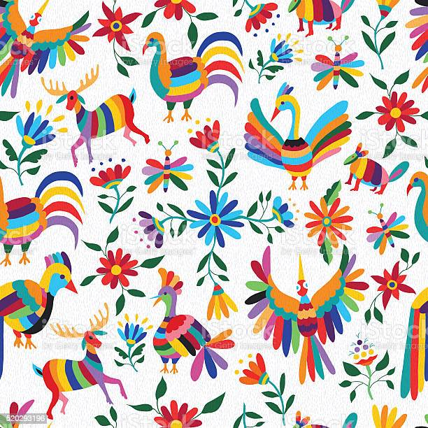 Mexican art pattern with animal and flowers vector id520293196?b=1&k=6&m=520293196&s=612x612&h=gtaxhsoo9nvnwfpaklstck27g14v0bigylghgmbnq4k=