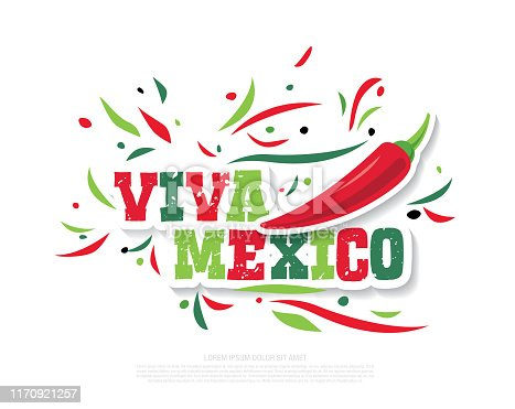 Vector illustration of a banner for holiday independence day of Mexico