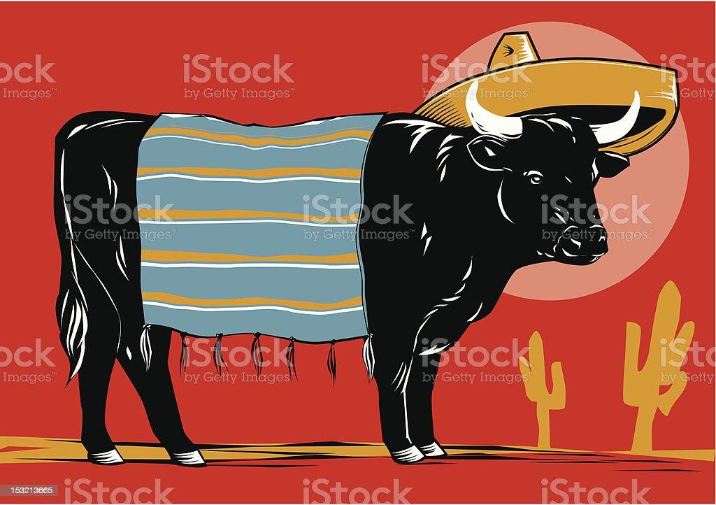 Mexican Beef vector art illustration