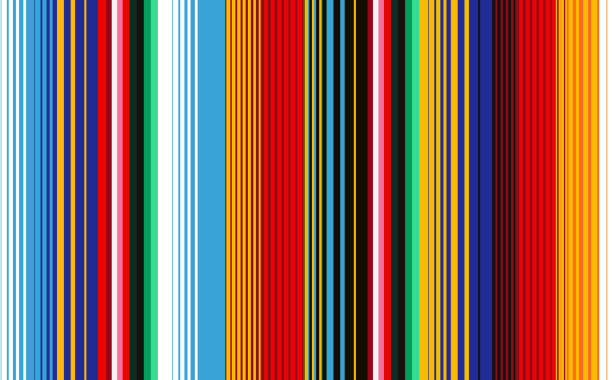 Mexican Blanket Stripes Seamless Vector Pattern. Seamless pattern with colorful stripes for fabric and wallpaper. Mexican Blanket Stripes Seamless Vector Pattern. Background for Cinco de Mayo Party Decor or Mexican Food Restaurant Menu. serape stock illustrations