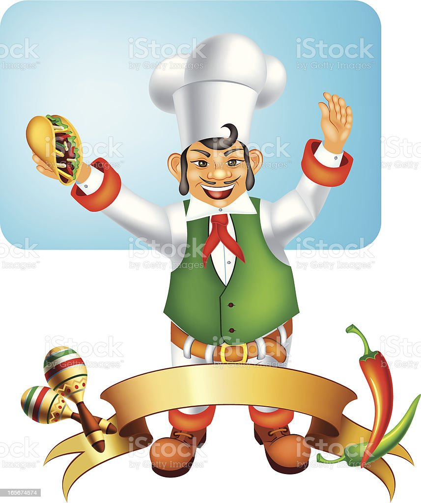 Mexican Chef Emblem royalty-free stock vector art