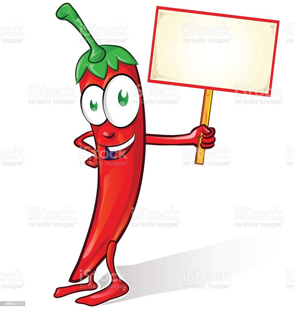 Chili Bilder mexikanische chili isoliert mit schild stock vektor und