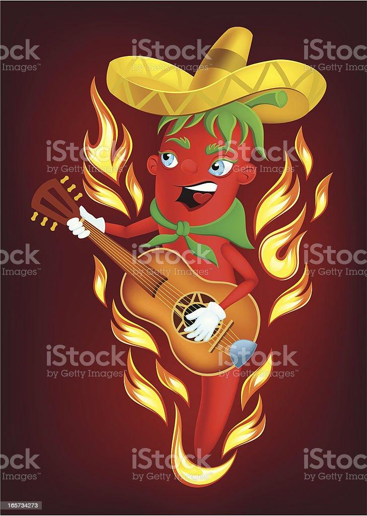 Mexican chili pepper vector art illustration