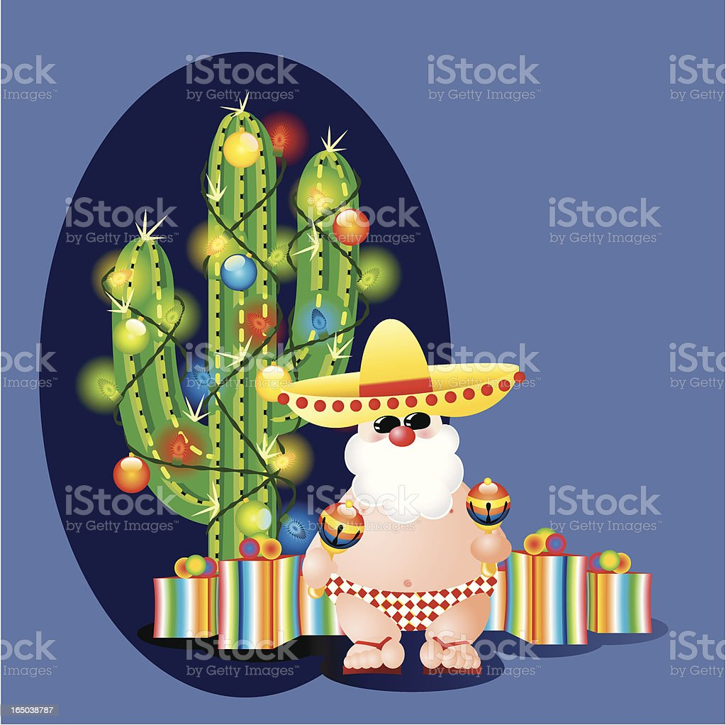 Mexican Christmas royalty-free stock vector art