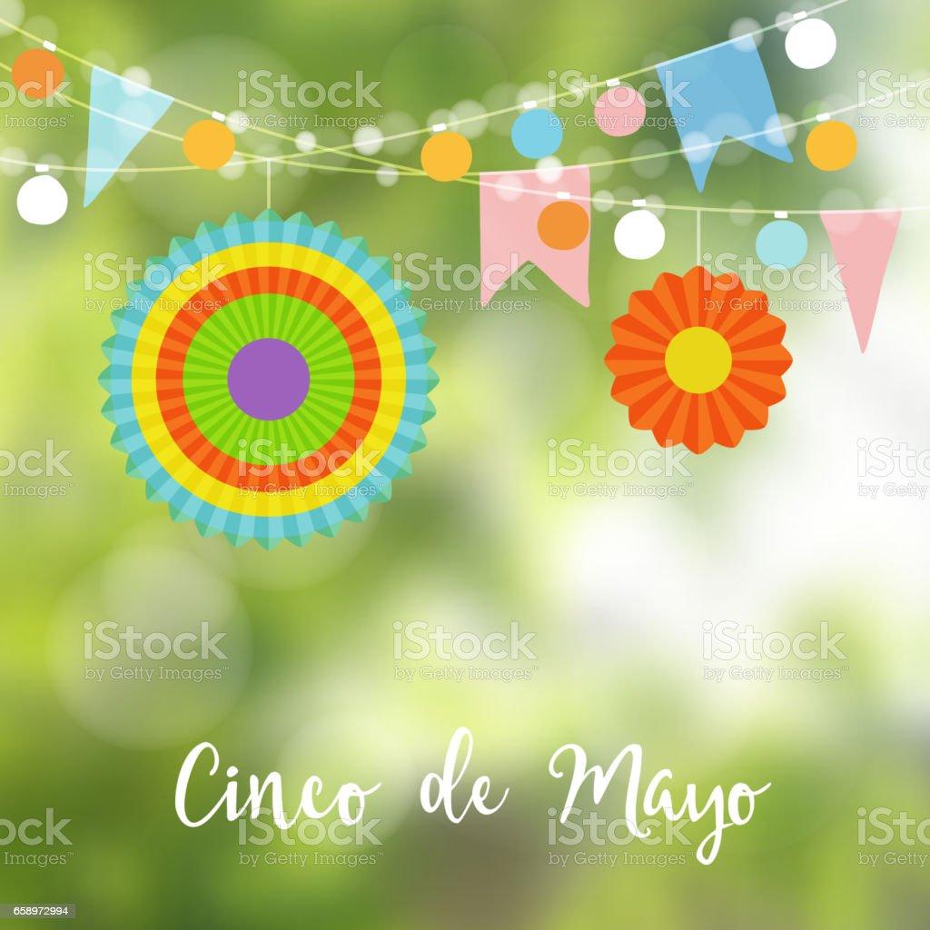 Mexican Cinco De Mayo Greeting Card Invitation Party Decoration