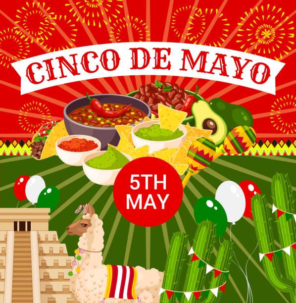 mexican cinco de mayo vector fiesta poster - cinco de may stock illustrations, clip art, cartoons, & icons