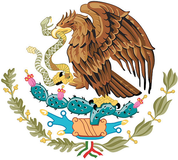 Mexican Coat of Arms vector art illustration