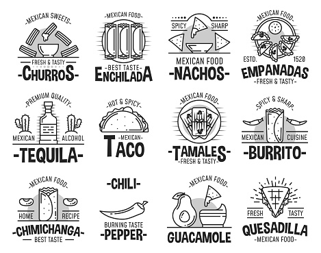Mexican cuisine and fast food icons