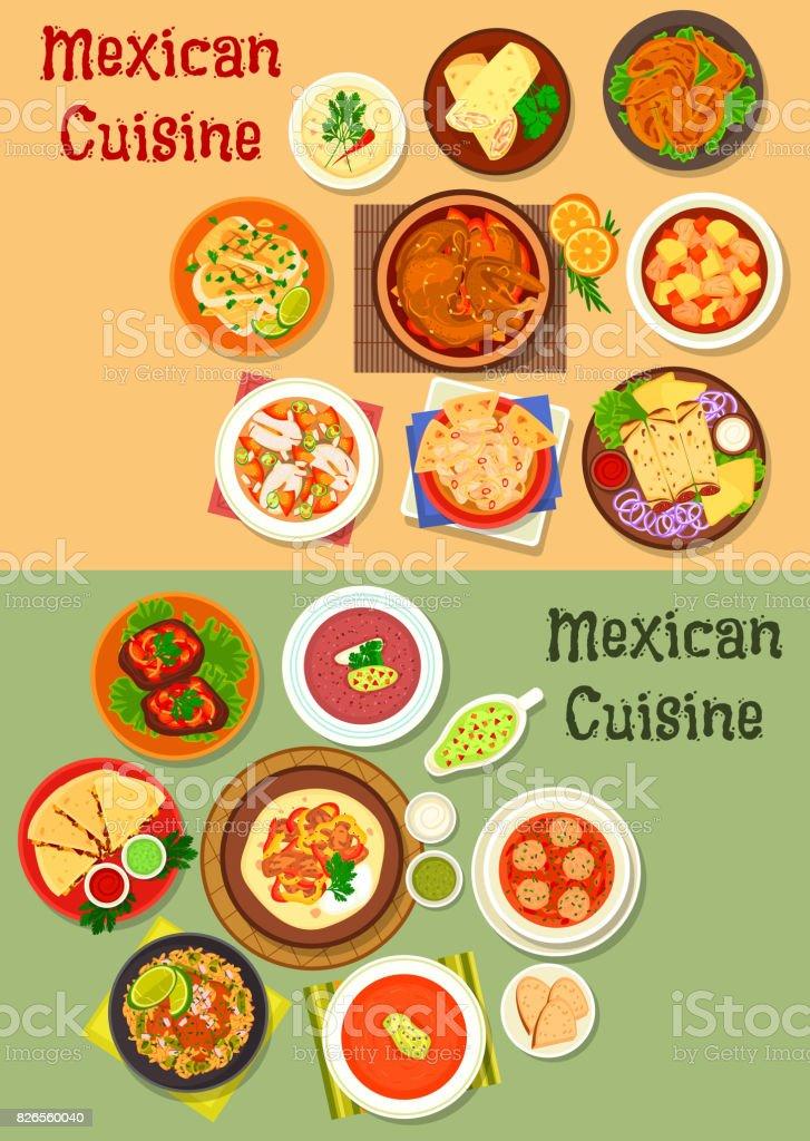 Mexikanische Kücheabendessentellersymbol Für Menüdesign Stock Vektor ...