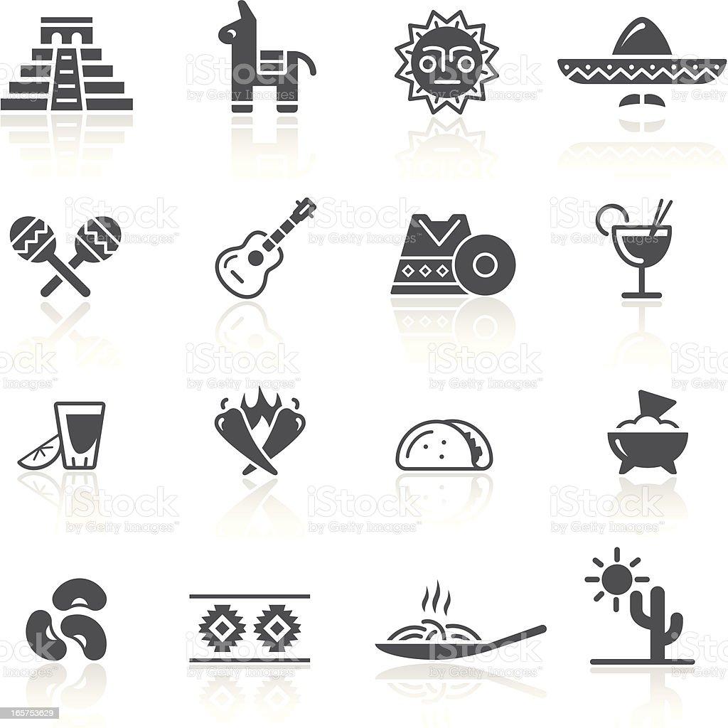 Mexican Culture & Food vector art illustration