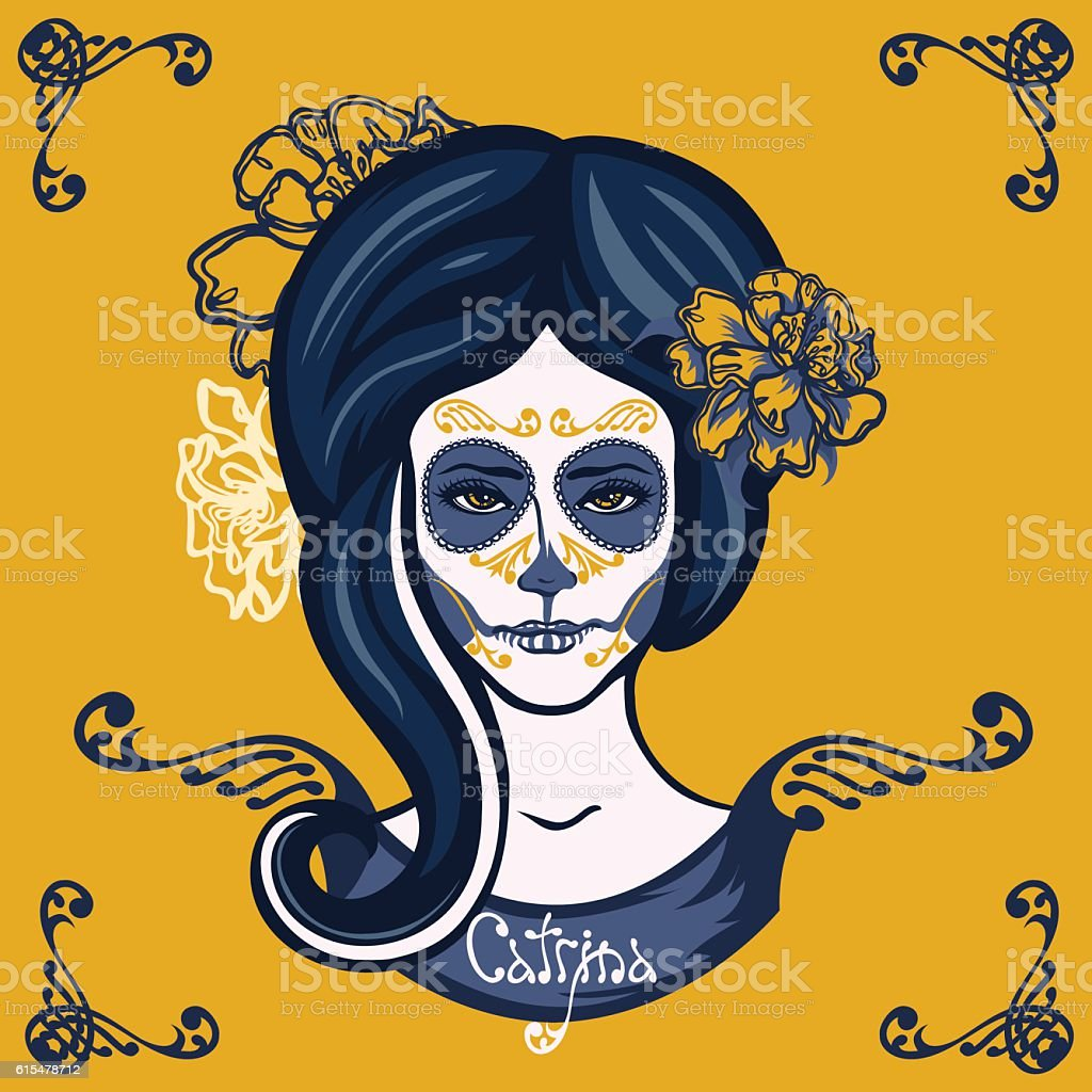 Mexican Day of the Dead. vector art illustration