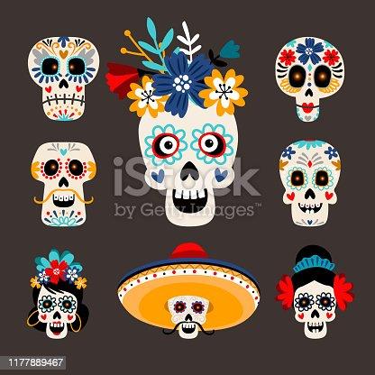 istock Mexican dead sugar heads 1177889467