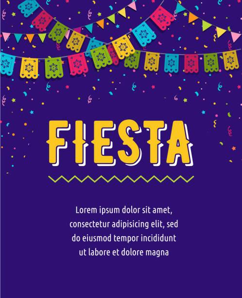 フラグ、装飾、グリーティング カードとメキシコのフィエスタ背景・ バナー ・ ポスター デザイン - メキシコの国旗点のイラスト素材/クリップアート素材/マンガ素材/アイコン素材