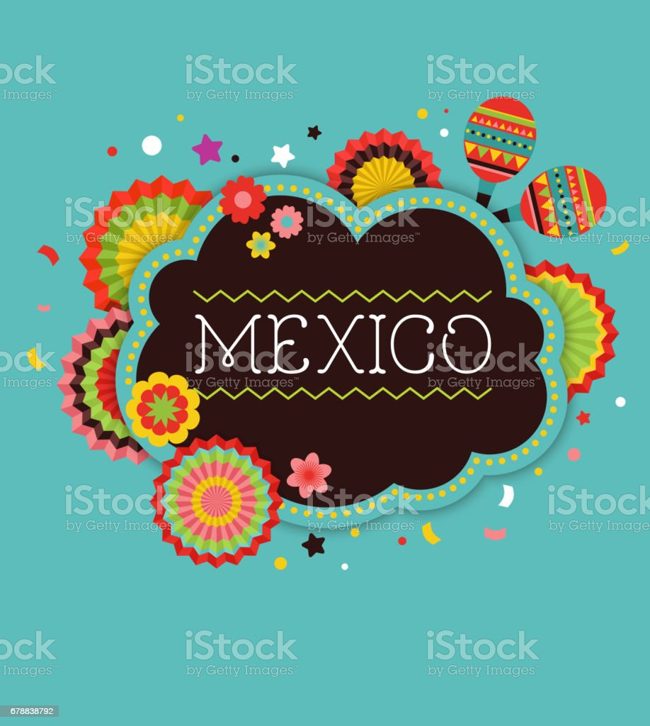 Mexican Fiesta background banner vector art illustration