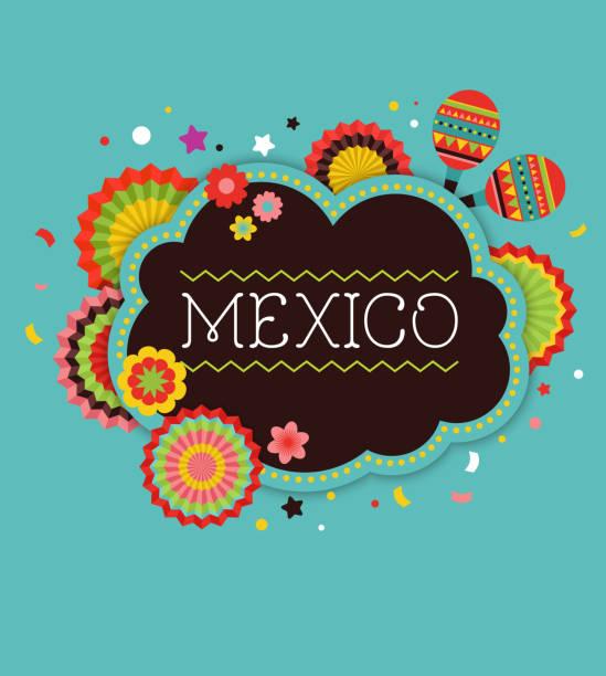 illustrations, cliparts, dessins animés et icônes de bannière de fond de fiesta mexicaine - carnaval