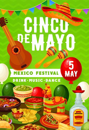 Mexican fiesta Cinco de Mayo party food and drinks