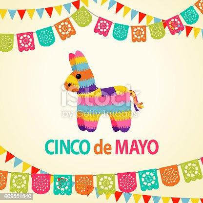 istock Mexican Fiesta Pinata Party Invitation 669551840