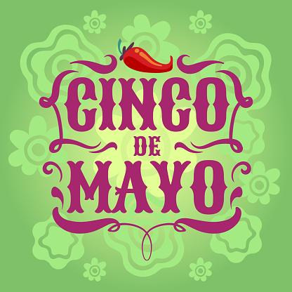 Mexican fiesta poster. Cinco de mayo invitation flyer. Latino festival vector background