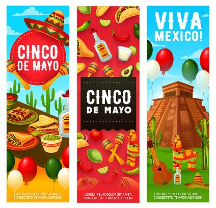 Mexican Fiesta symbols, Cinco de Mayo holiday