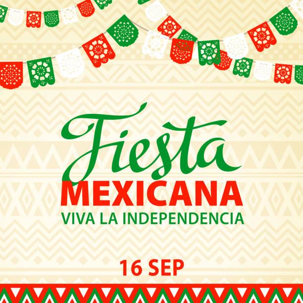 Fiesta mexicana - ilustração de arte em vetor