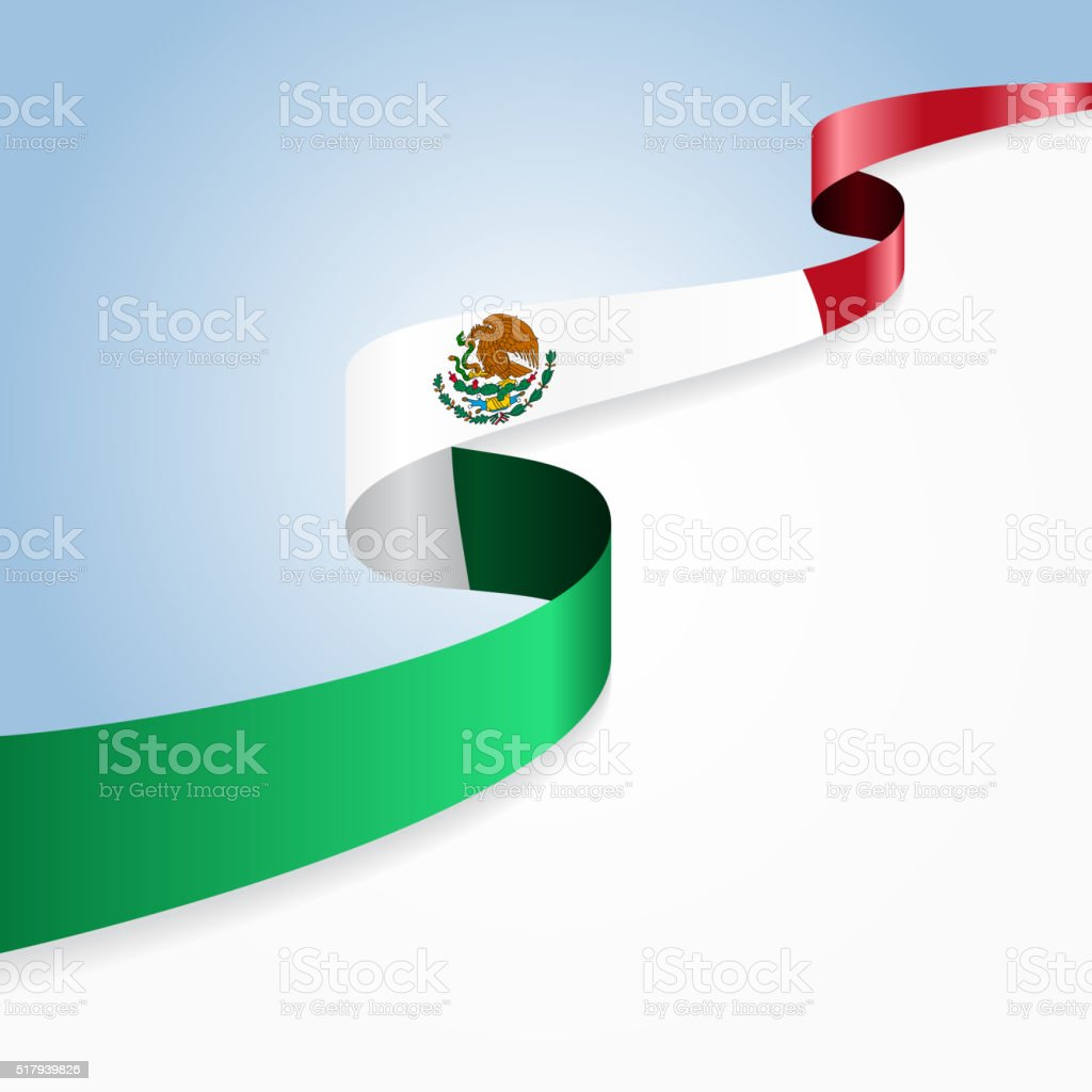 mexican flag background vector illustration stock vector art