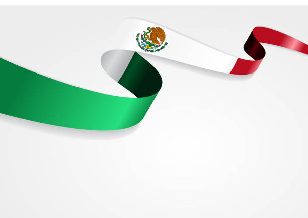 ilustraciones, imágenes clip art, dibujos animados e iconos de stock de bandera mexicano fondo. ilustración vectorial - bandera mexicana