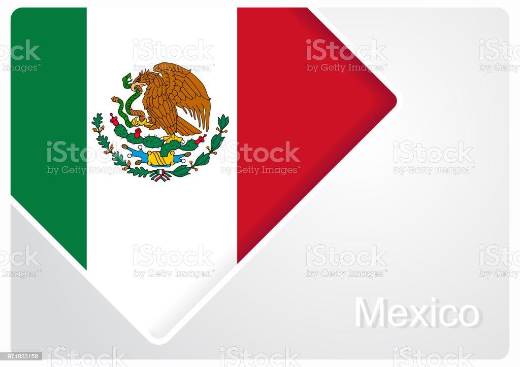 Ilustración de Bandera Mexicana Diseño De Fondo Ilustración De ...