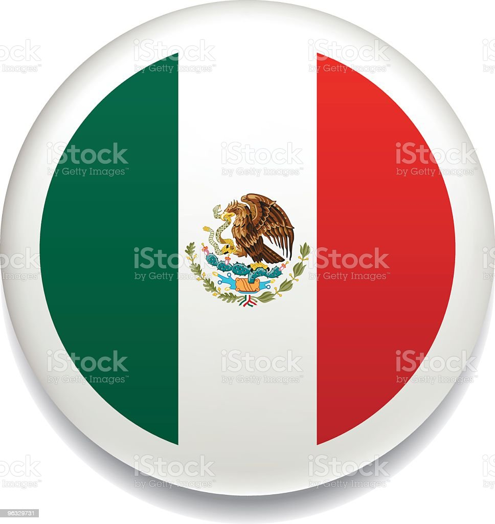 Mexican flag vector button royalty-free mexican flag vector button stock vector art & more images of badge