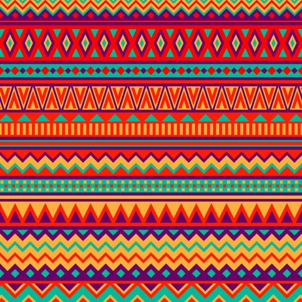 stockillustraties, clipart, cartoons en iconen met mexican folk art patterns - etniciteit