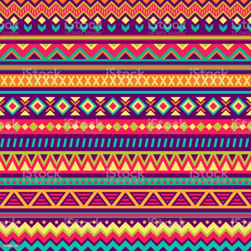 Padrões de arte folclórica mexicana - ilustração de arte em vetor