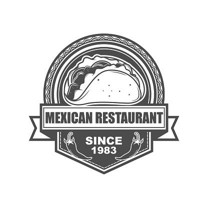 Mexican Food Badge   Design