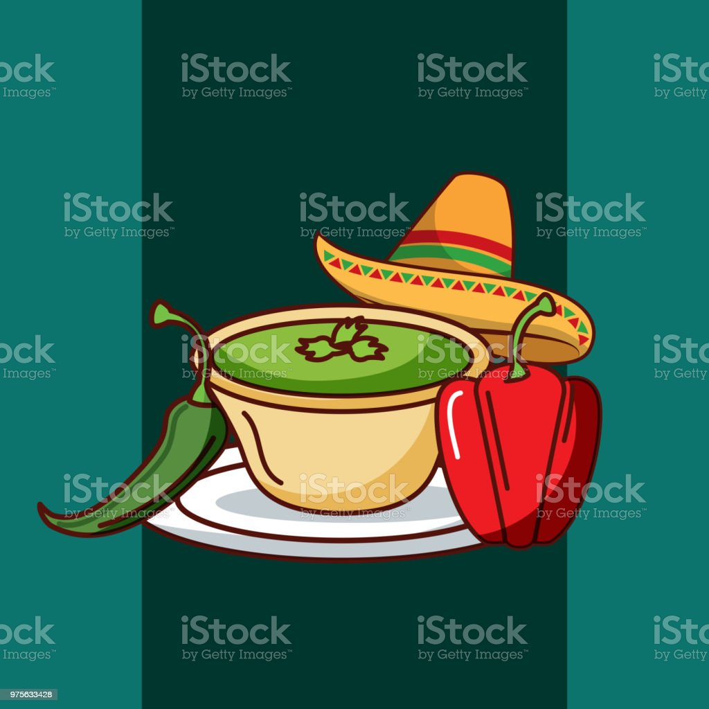 mexican food card vector art illustration