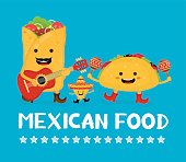Mexican food creative card concept.